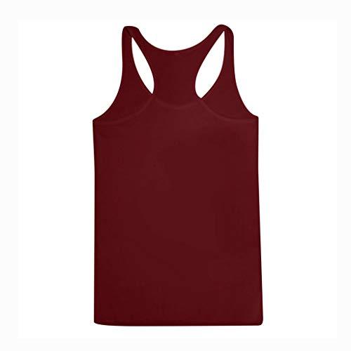 Della Senza Donne T Maglia Le Top Kobay Lettera shirt Tops Allentato Maniche Camicetta Crop Vino Canotte qXCawnt4x