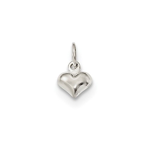 Best Designer Jewelry Sterling Silver Polished Puffed Heart Charm