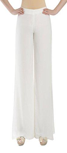 Cloudy Arch Women's Chiffon High Waist Wide Leg Split Palazzo Pants