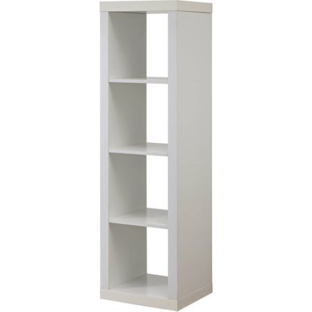 Better Homes and Garden 4-Cube Organizer | Horizontal or Vertical Display, (4-Cube, White) ()