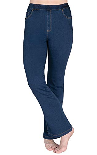PajamaJeans Women's Bootcut High-Waist Stretch Jeans, Bluestone Wash, LRG 12-14 ()