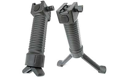 Grip-Pod Military Polymer Coated Steel Bipod, Black, Outdoor Stuffs