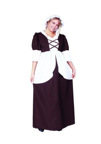 RG Costumes Plus-Size Colonial Peasant, Brown/White, X-Large/XX-Large