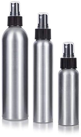 5639efa20151 Aluminum Empty Refillable Fine Mist Spray Bottle Set 3 piece, 1-2.7 oz, 1-4  oz, and 1-8 oz