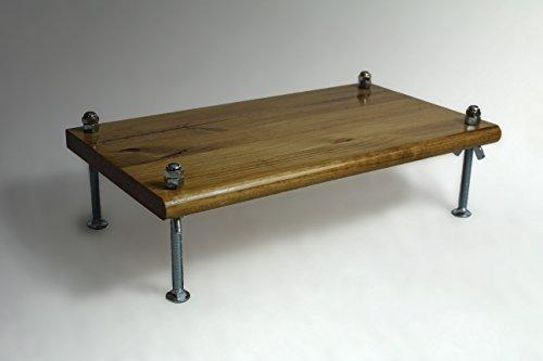 Monitor Stand PSTSWCB18-6 Pine Special Walnut 18 x 11.5 x 6 TV Wood Shelf Riser Furniture Desk Assembled Made in USA NEW