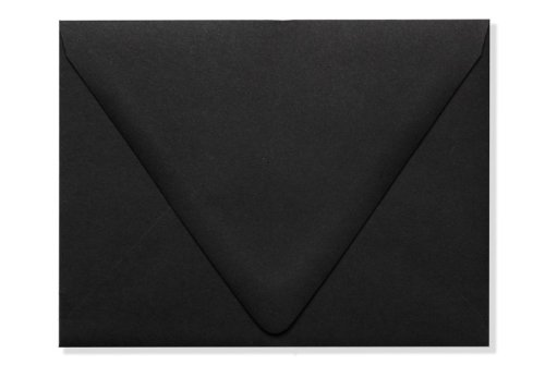 A2 Contour Flap Envelopes (4 3/8 x 5 3/4) - Midnight Black (50 Qty.)