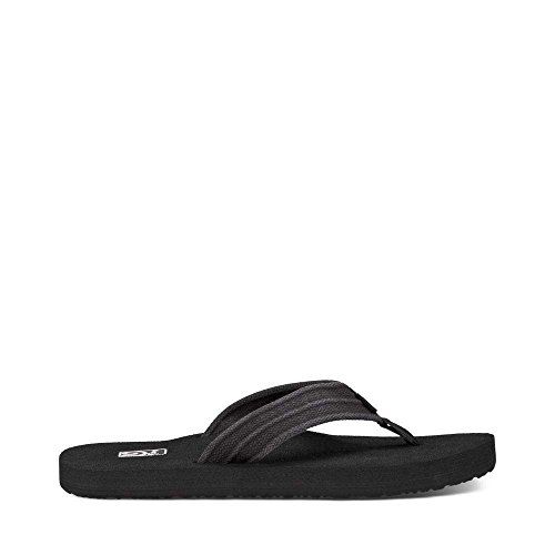 Flops Teva Flip Leather (Teva Men's Mush II Canvas M Flip Flop,Drizzle,14 M US)