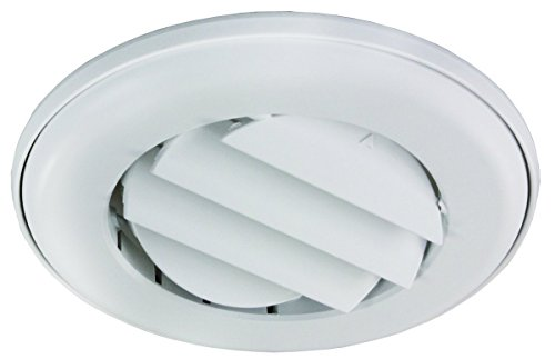 (JR Products ACG25DPW-A Polar White Adjustable Ceiling Vent with 0.25