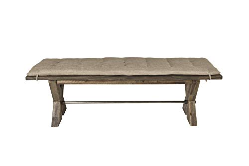 New Classic Furniture D7404-25C Tuscany Park Bench, Vintage Gray (Dining Room Furniture Tuscany)