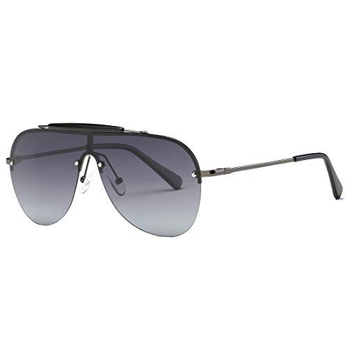 Cadre Lunettes Style lunettes Rétro Hommes Kimorn Des Pilotes Soleil K0557 De Métal Gris Polarisé WfnT6zp