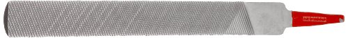 Simonds Hand File For Aluminum  American Pattern  Double Cut  Half Round  Coarse  12  Length  1 1 8  Width  11 32  Thickness
