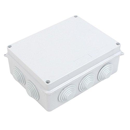 White ABS IP65 Waterproof EnClosure Junction Box 200mmx155mmx80mm