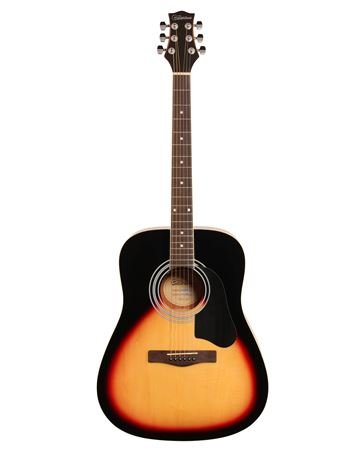 Silvertone SD3000 Acoustic Guitar Pack, Vintage Sunburst on