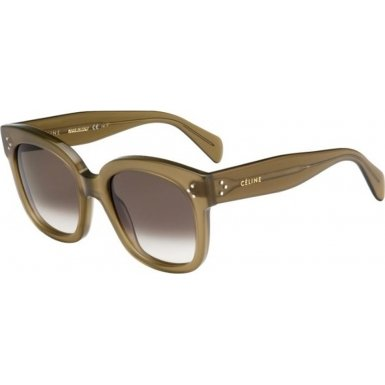 Celine 41805/S QP4 Olive Green 41805S Square Sunglasses Lens Category 3 Size - Celine Sunglasses Green