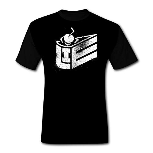 The Cake is a Lie Fashion,Custom Men's Short Ssleeves Black -