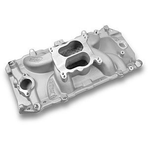 Weiand 8123 Street Warrior Square/Spread Bore Satin Oval Port Intake Manifold