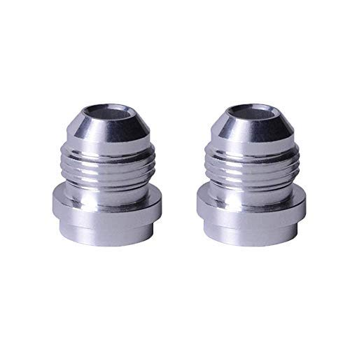 EVIL ENERGY 8AN Male Weld On Fitting Bung Hose Adapter Fuel Oil Aluminum Pack Of 2