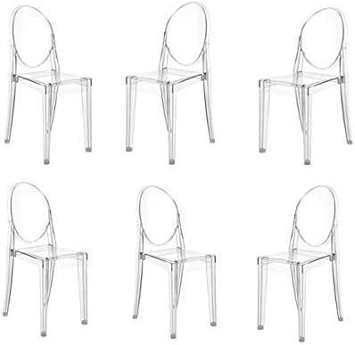 Anaelle Panana Set di 6 sedie Ghost in policarbonato