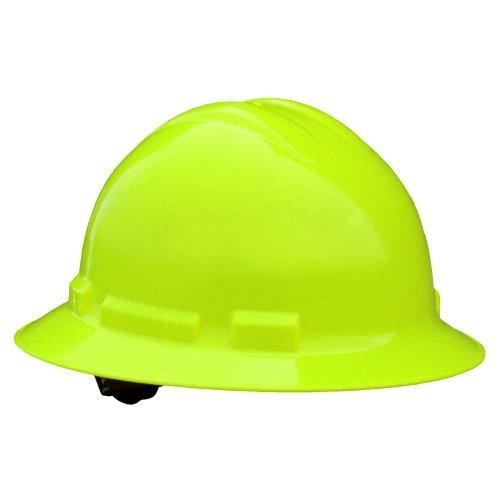 Radians QHP4-GREEN-HV Hard Hat Quartz Full Brim Hi Vis Green 4 Pt Pinlock Susp. Hi Hat System
