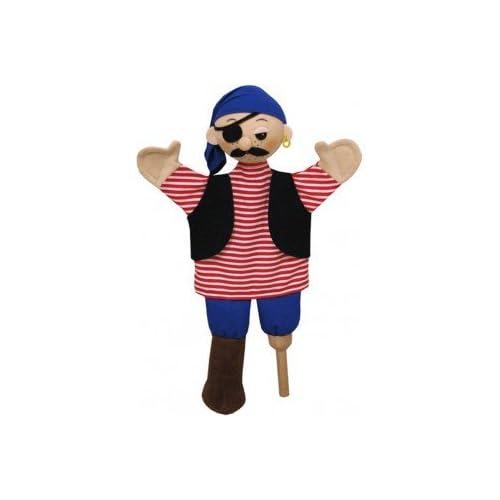 ABA aba71163Pirat Jim marioneta de mano, 32cm