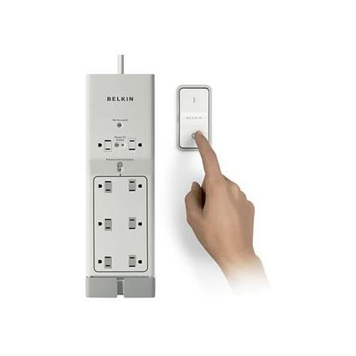 Belkin F7C01008Q Conserve Switch 8-Outlets Surge Suppressor, (Belkin Conserve Surge Protector)