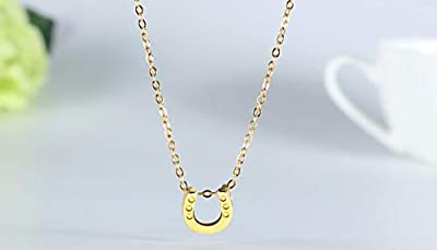 BECEDE Friendship Butterfly Compass Necklace Good Luck Elephant Horseshoe Lotus Pendant Chain Necklace with Message Card Gift Card