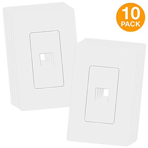 - TOPGREENER 1 Port RJ45 Keystone Screwless Wall Plate, Cat5 Cat6 Jack Module Compatible, Size 1-Gang 4.69