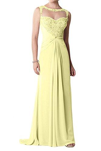 La Marie Langes Brautmutterkleider Abendkleider Hell Braut Lila Festlichkleider Promkleider Elegant mit Spitze Gelb nOwSnx