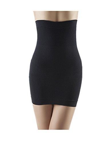 Leright Women's Half Slip Bridal High Waisted Underwear Seamless Waist Shaper, Black, L(US SIZE 4-6)