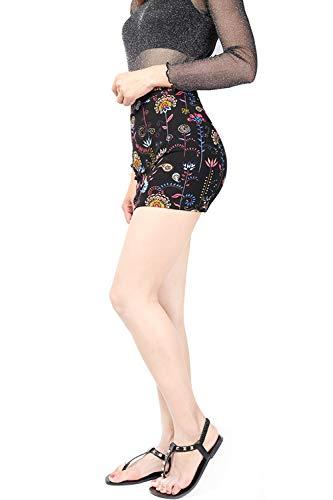 Jupes Femmes La Boho Taille Jupe Club Noir Plus Taille Moulante Floral Haute Mini O48Oqrw