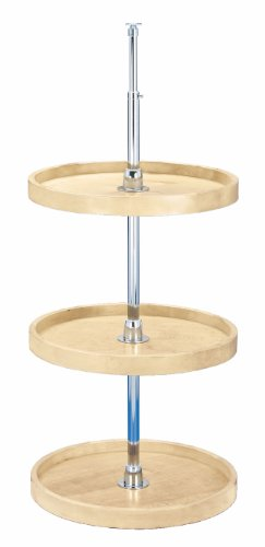 Rev-A-Shelf - 4WLS073-18-536 - 18 in. Wood 3-Shelf Full Circle Lazy Susan Set by Rev-A-Shelf