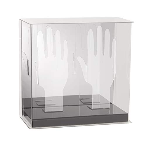 Franklin Sports Official Batting Glove Display Case - Baseball - Softball - Plexiglass  - Mirrored Display- Autograph Display