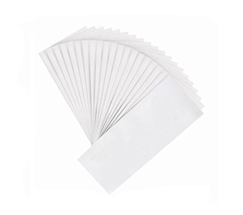 100PCS White 7.8'' x 2.7'' Disposable Non-woven Hair Removal Wax Strip Hair Remove Paper Depilatory Epilator for Leg Arm Body Face