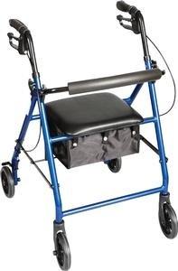 RMA33577 - Carex Health Brands Classics Rolling Walker, Metallic Blue