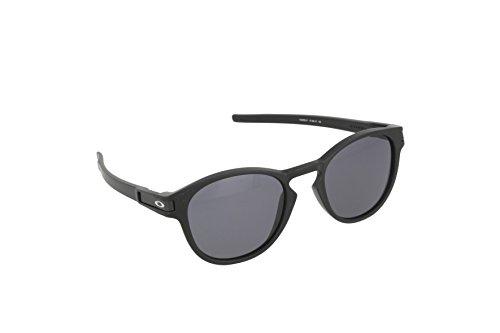 (Oakley Men's Latch OO9265-01 Round Sunglasses, Matte Black, 53 mm )