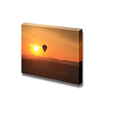 Canvas Prints Wall Art - Hot Air Balloon is Flying at Sunrise - 24