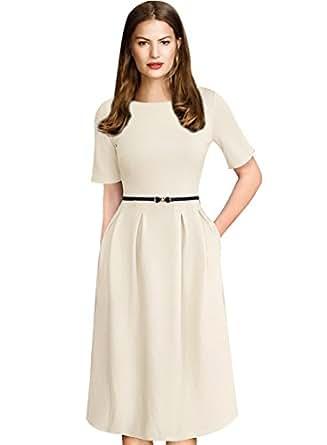 VfEmage Womens Vintage Summer Polka Dot Wear To Work Casual A-line Dress 7628 APT S