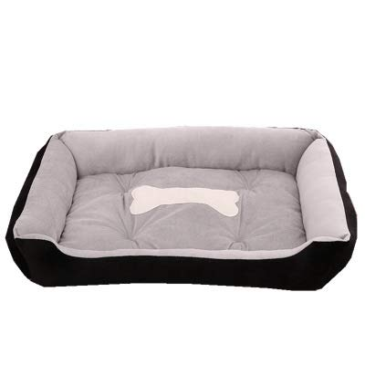Black XSSoft and Comfortable pet Bed, Foldable Lining, Warm and Luxurious Large Dog Bed (color   Black, Size   XS)