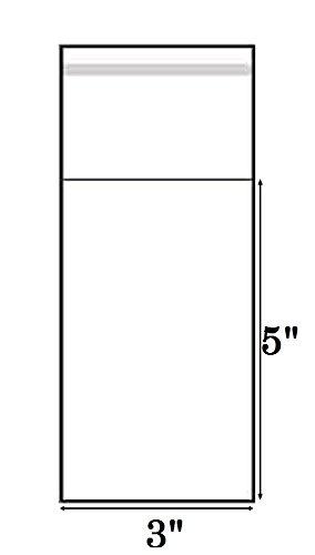 Polypropylene Display (888 Display® - 200 Pcs 3x5 Clear Resealable Recloseable Cellophane / Cello Polypropylene Bags)