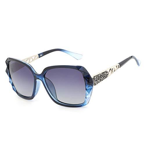 prismáticas de Calidad del A de diseño Sol Alta de Las Sol Las polarizaron Gafas Marca de de Gafas Las tamaño de Gran Femeninas de Gafas la Las Lujo de D KOMNY Mujeres SRqYBY