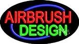 Airbrush Design Flashing Neon Sign - 17'' x 30''