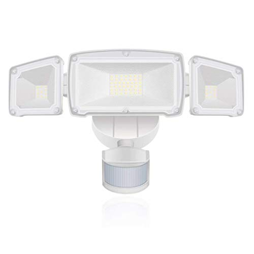 Motion Sensor Lights Outdoor,LED Outdoor Security Flood Light, IP65 Waterproof Outdoor Light for Entryways, Stairs, Yard and Garage (42W White)
