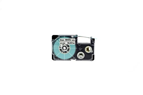 Casio XR-9WE2S 9mm Labeling Tape (Black on White) (Casio Ez Label Tape)