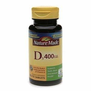 Iu 100 Tabs (Nature Made Nature Made Vitamin D, 100 tabs 400 IU(Pack of 3))