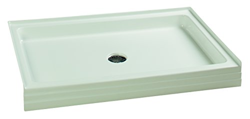 Clarke Products SB4234-01 Colorfloor Single Threshold Rectangular 42 x 34, White (Rectangular Base Single Shower Threshold)