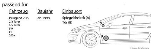 206+ 206cc Pioneer TS-G173Ci Peugeot 206 16cm Lautsprecher Einbauset 206sw