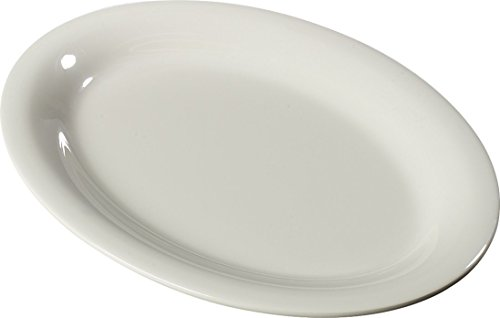 Bone 12x12 (Carlisle 3308242 Sierrus Melamine Oval Serving/Dinner Platters, 12