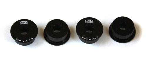 Blox Racing BXSS-20614-BK Black Steering Rack Rigid Bushing Kit for Honda S2000