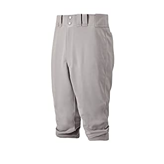 Mizuno Adult Premier Short Baseball Pant, Grey, Large