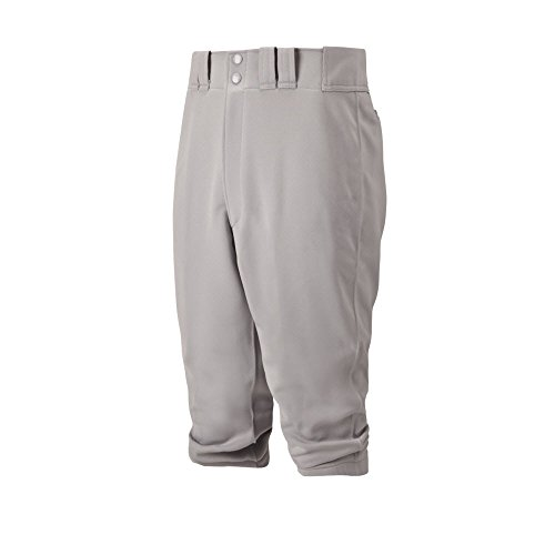 Mizuno Adult Men's Premier Short Knicker Baseball Pant, Below the Knee Fit (Grey, Small)